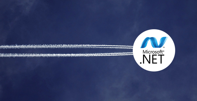 .net application migration services represented by flying .net logo