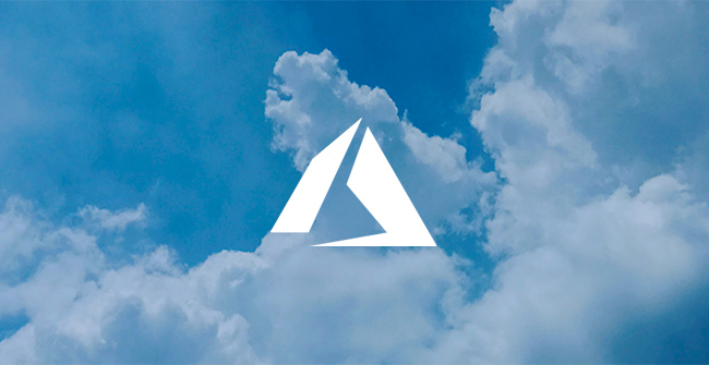 .net azure development services represented by azure logo in clouds